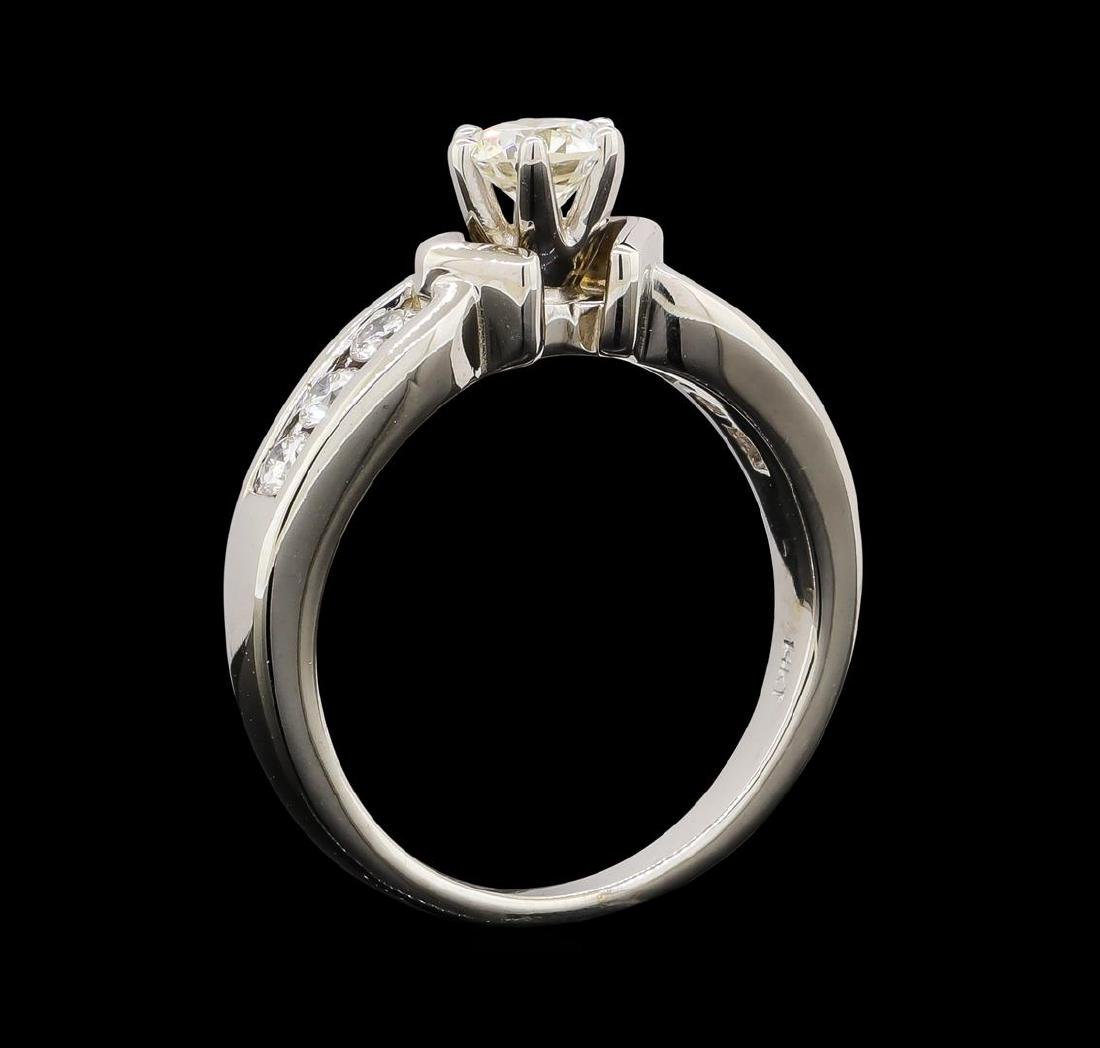 0.80 ctw Diamond Ring - 14KT White Gold - 4