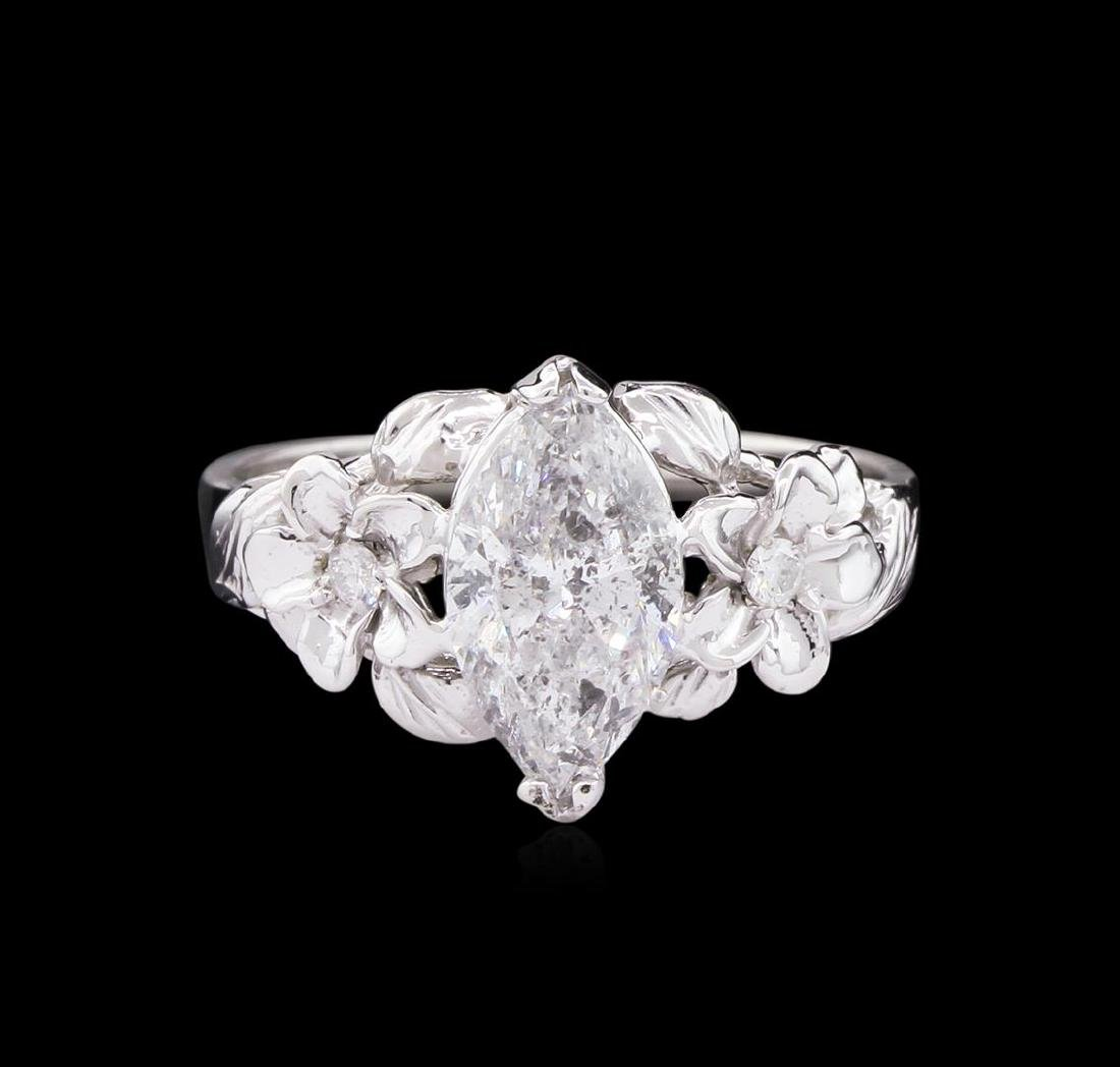 1.56 ctw Diamond Ring - 14KT White Gold - 2