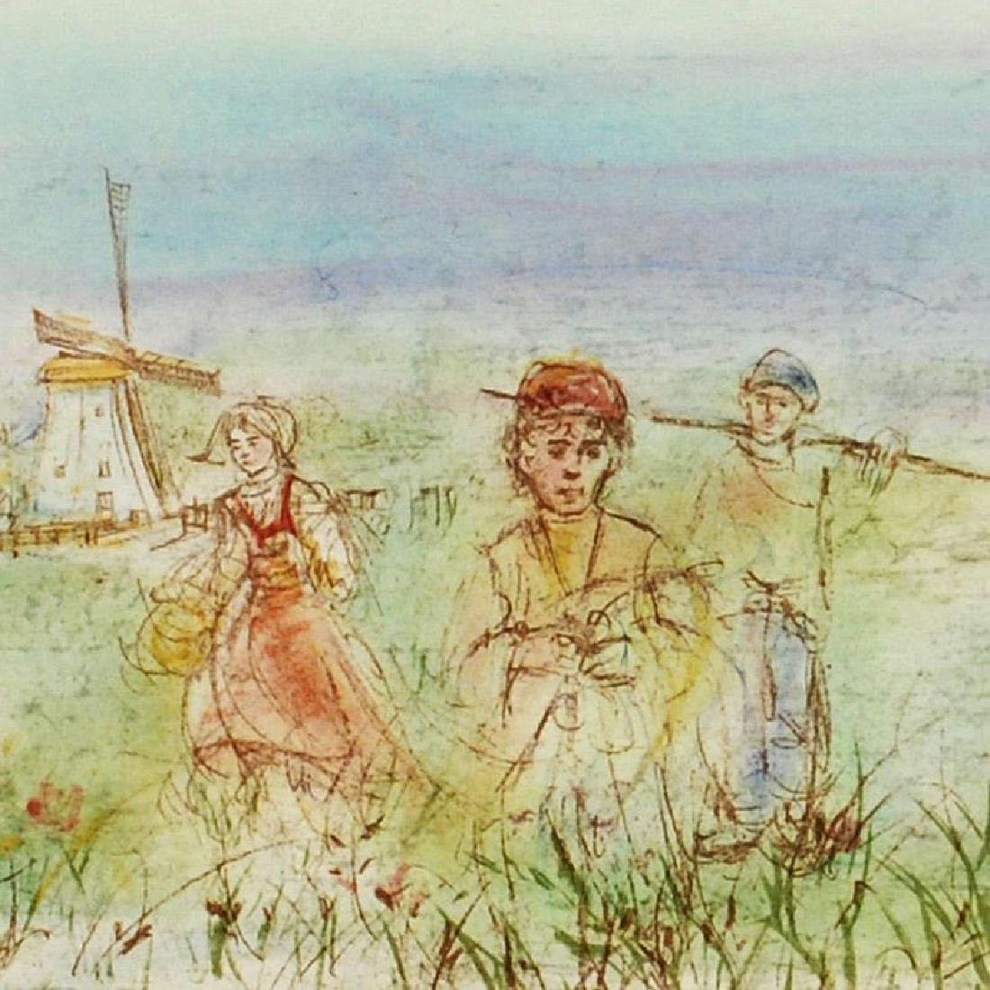 Dutch Landscape by Hibel (1917-2014) - 2