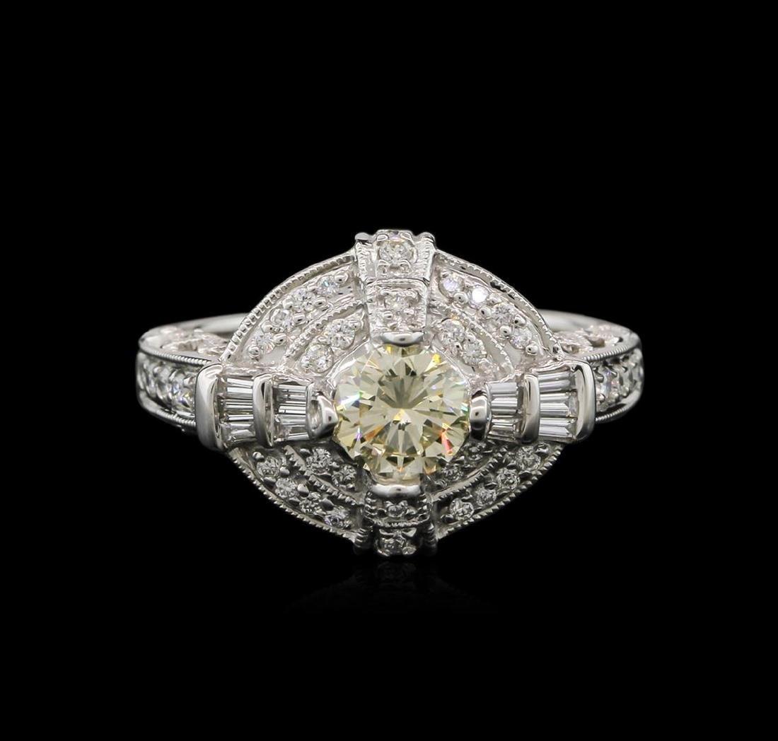 1.37 ctw Diamond Ring - 14KT White Gold - 2