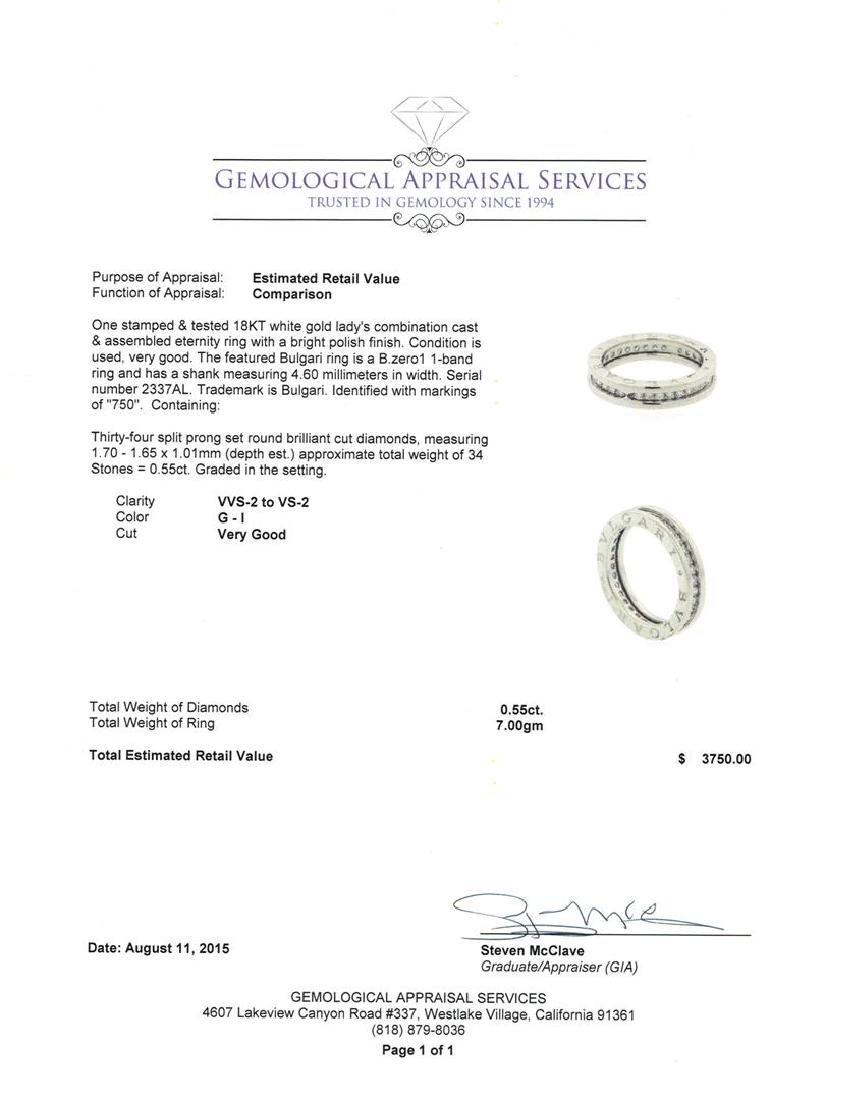 0.55 ctw Diamond Ring - 18KT White Gold - 3