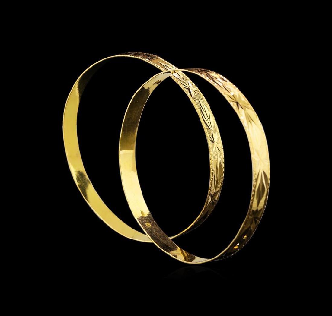 18KT Yellow Gold Bracelet Set - 3