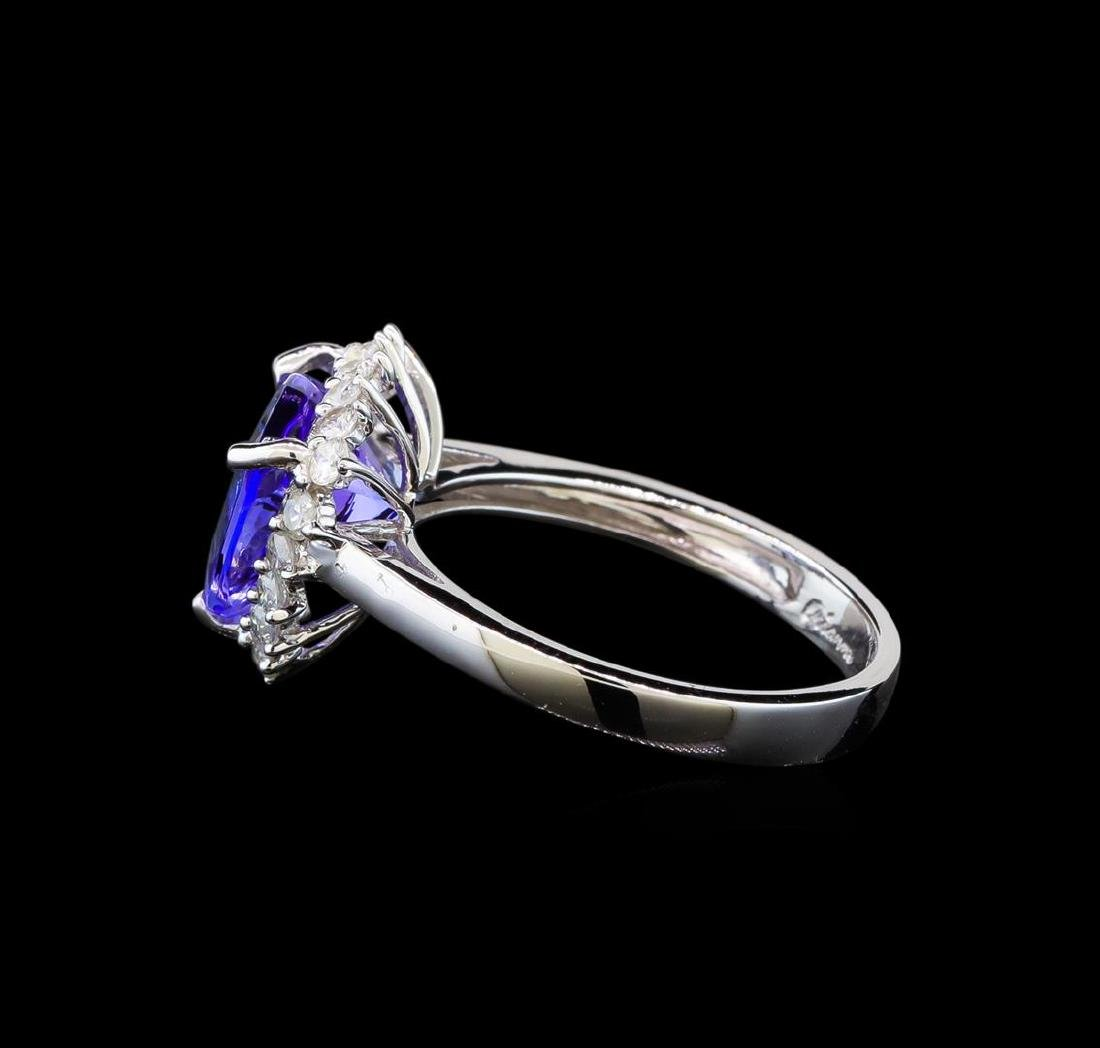14KT White Gold 3.44 ctw Tanzanite and Diamond Ring - 3