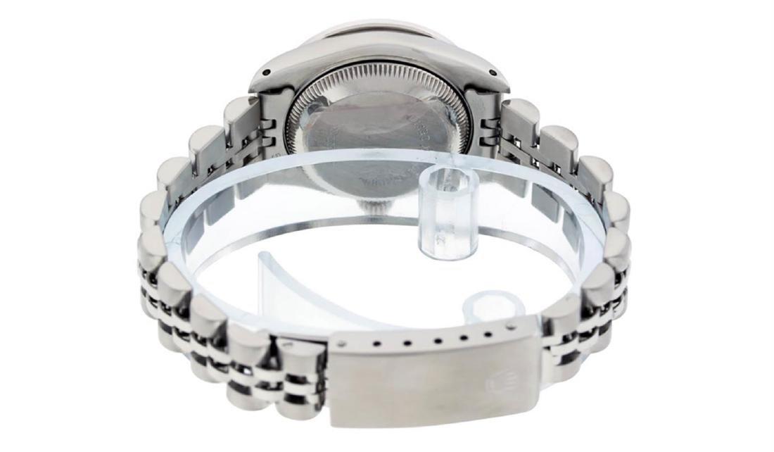 Rolex Ladies Stainless Steel Blue Diamond & Sapphire - 5