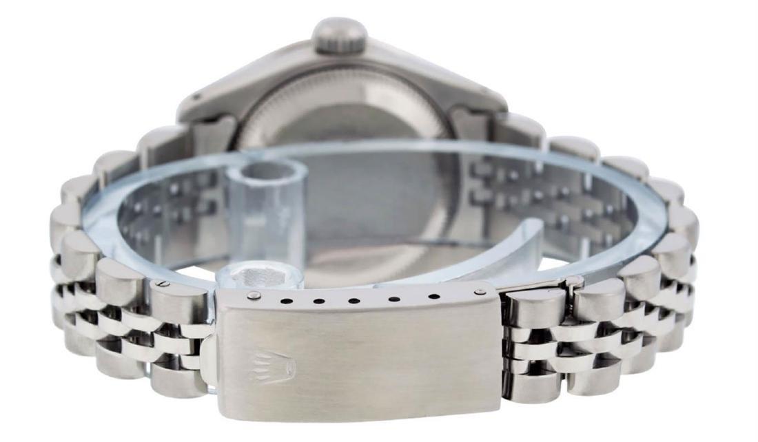 Rolex Ladies Stainless Steel Blue Diamond & Sapphire - 6