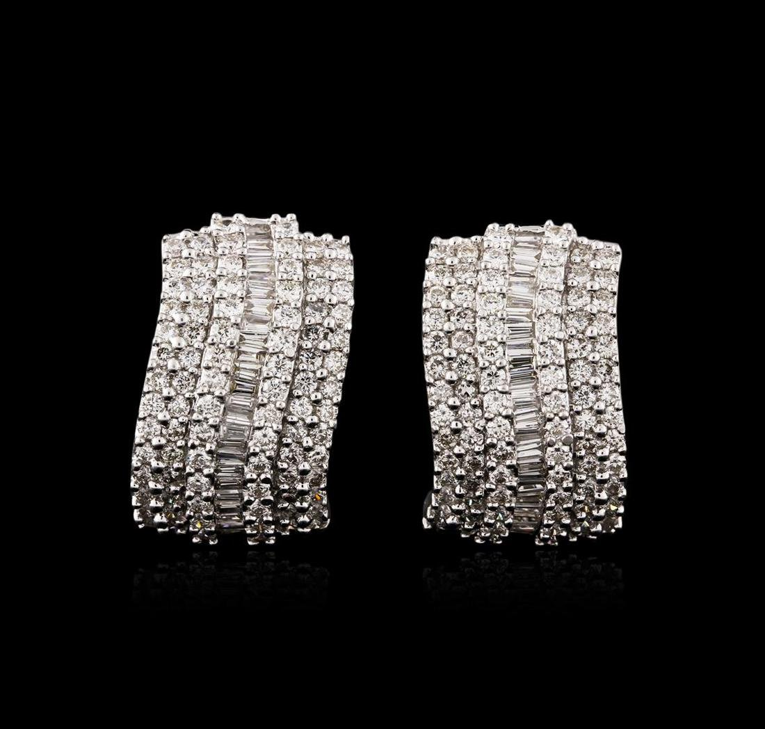18KT White Gold 1.67 ctw Diamond Earrings - 2