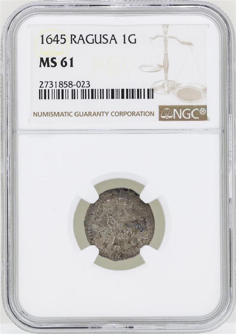 1645 Ragusa 1G Coin NGC MS61