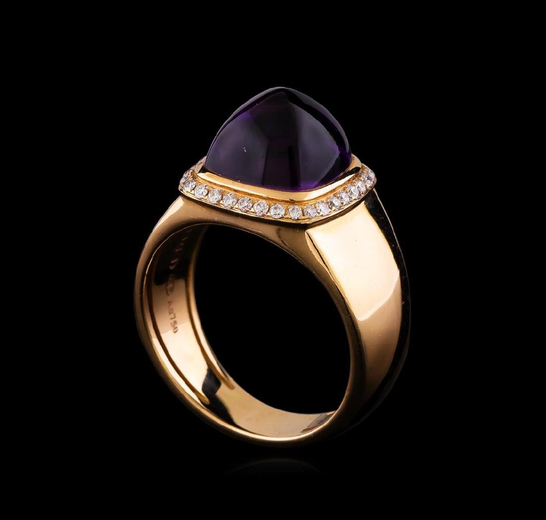 Fred of Paris Pain De Sucre Amethyst and Diamond Ring - - 4