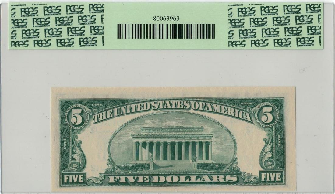 1950B PCGS CN 63PPQ $5 Federal Reserve Note - 2