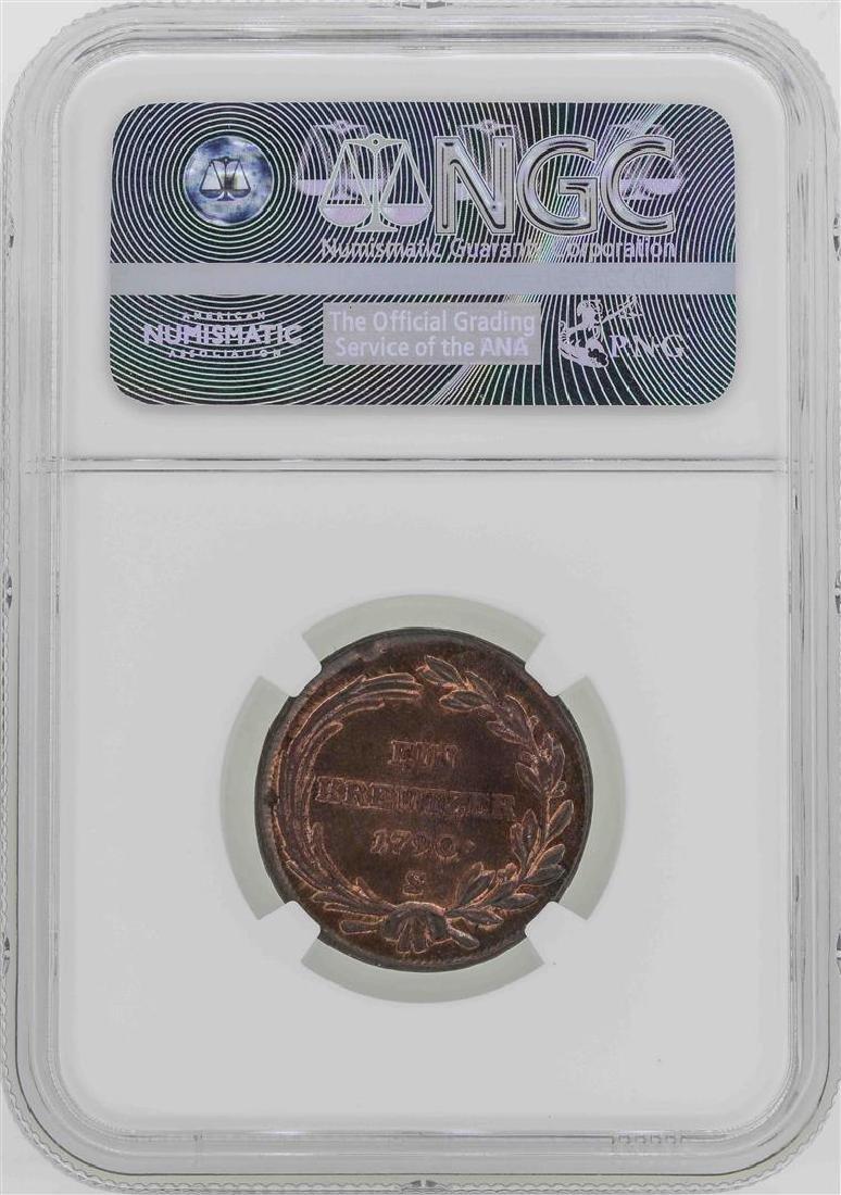 1790-S Austria Joseph II Kreuzer Coin NGC MS62BN - 2