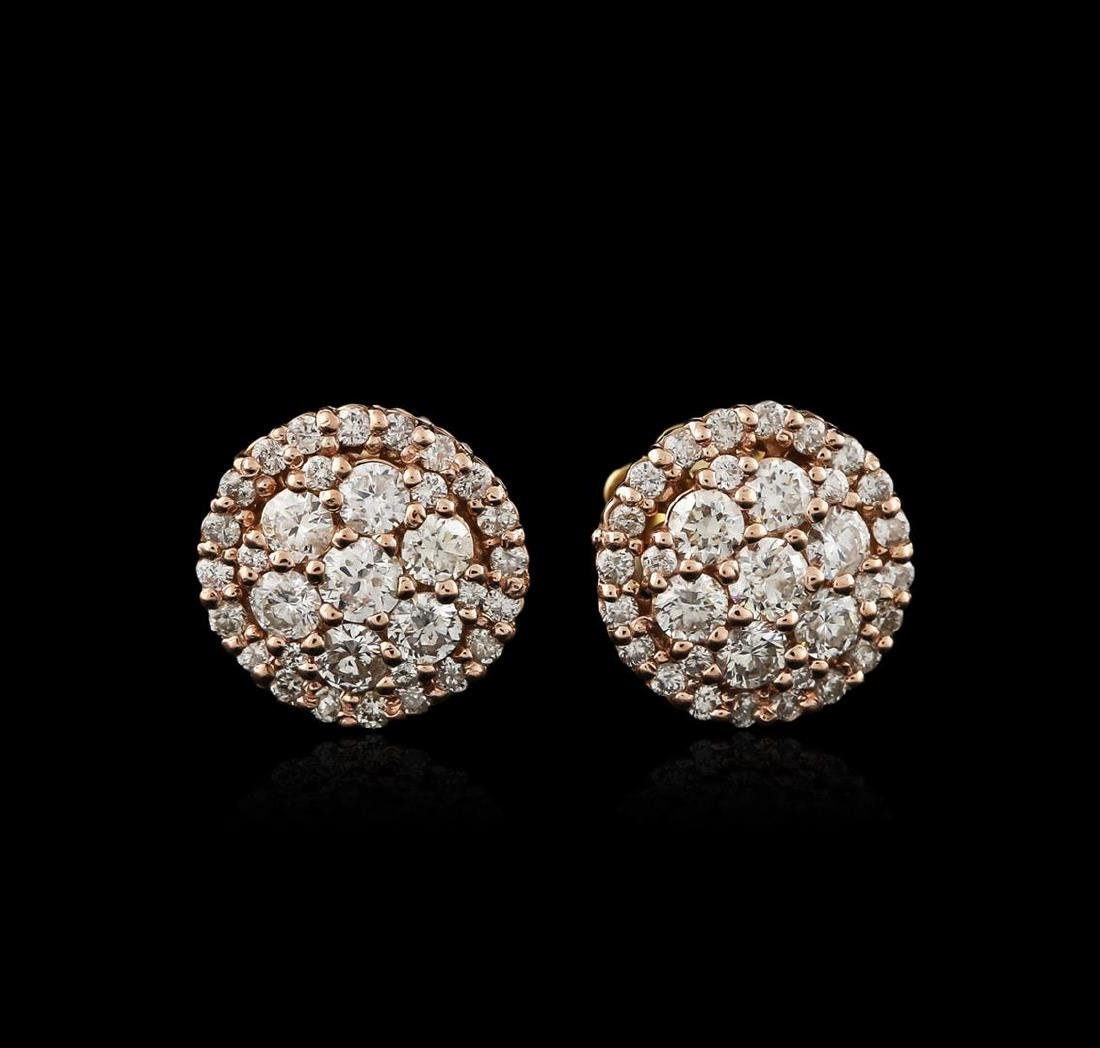 14KT Two-Tone Gold 1.31 ctw Diamond Earrings