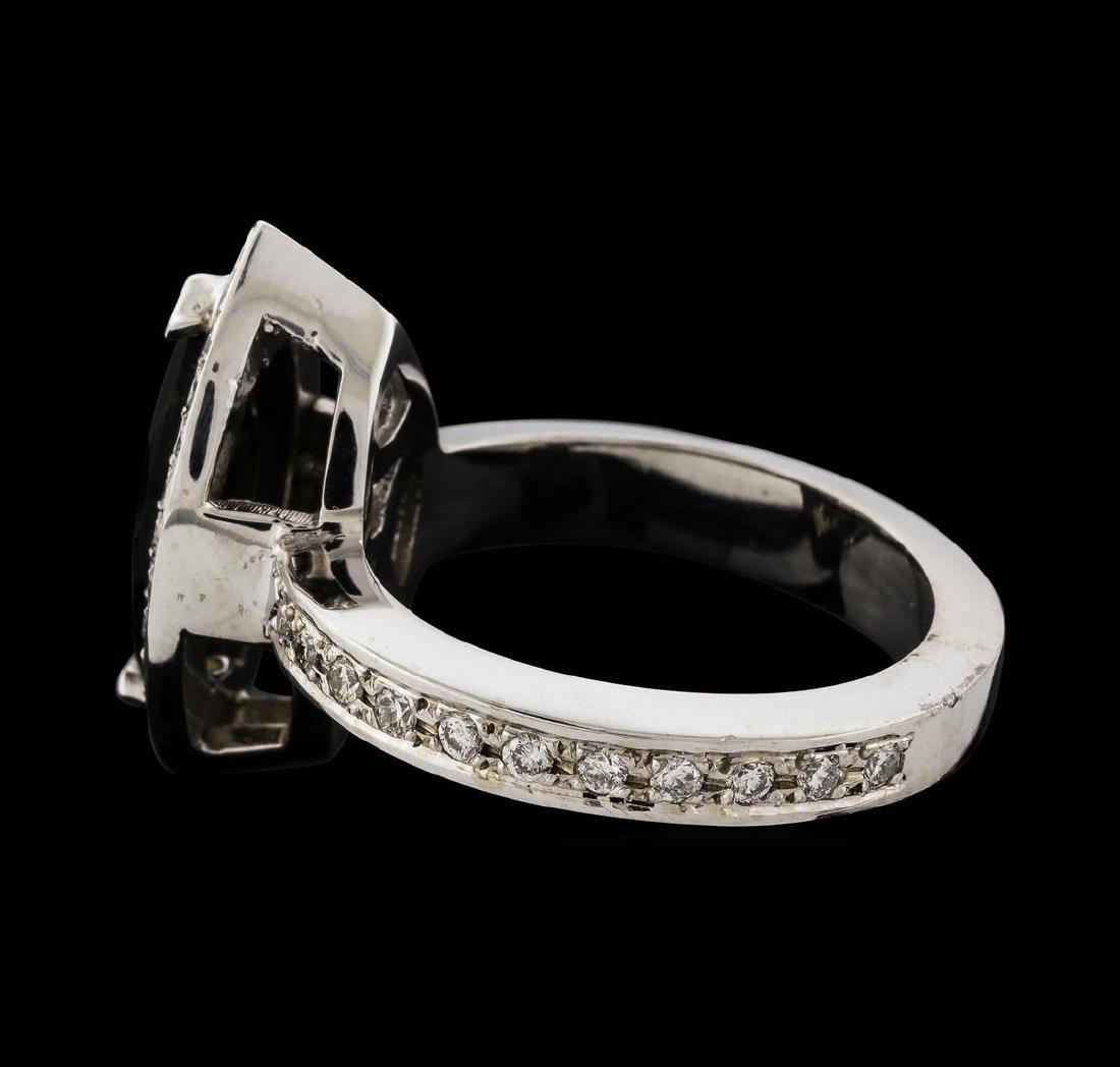1.61 ctw Tourmaline and Diamond Ring - 14KT White Gold - 3