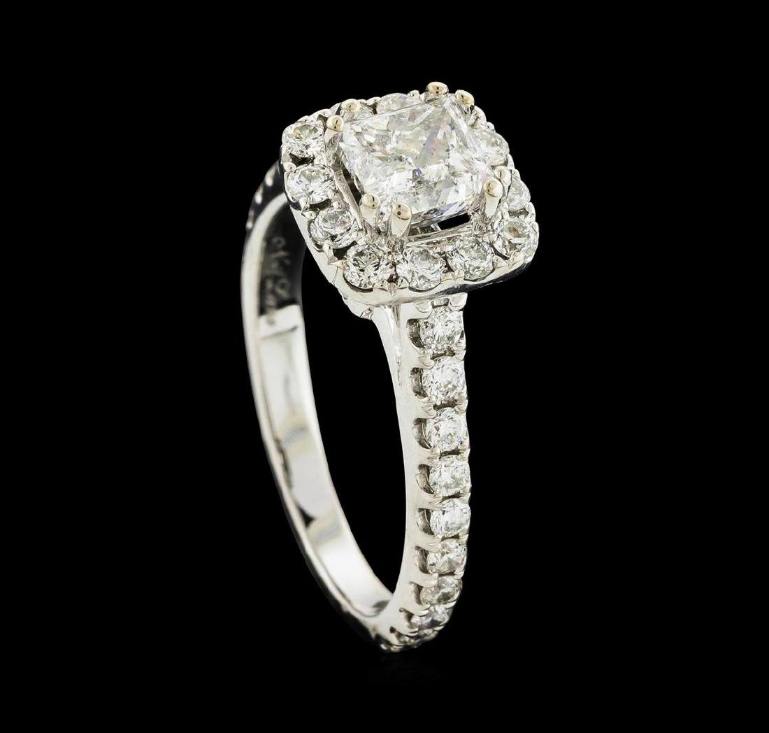 14KT White Gold 1.54 ctw Diamond Ring - 4