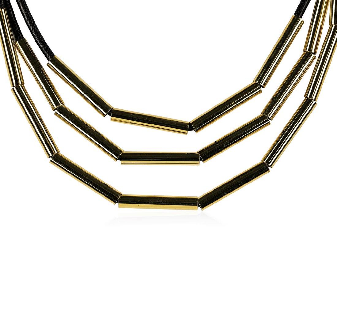 Strand Cord Necklace - Gold Plated - 2