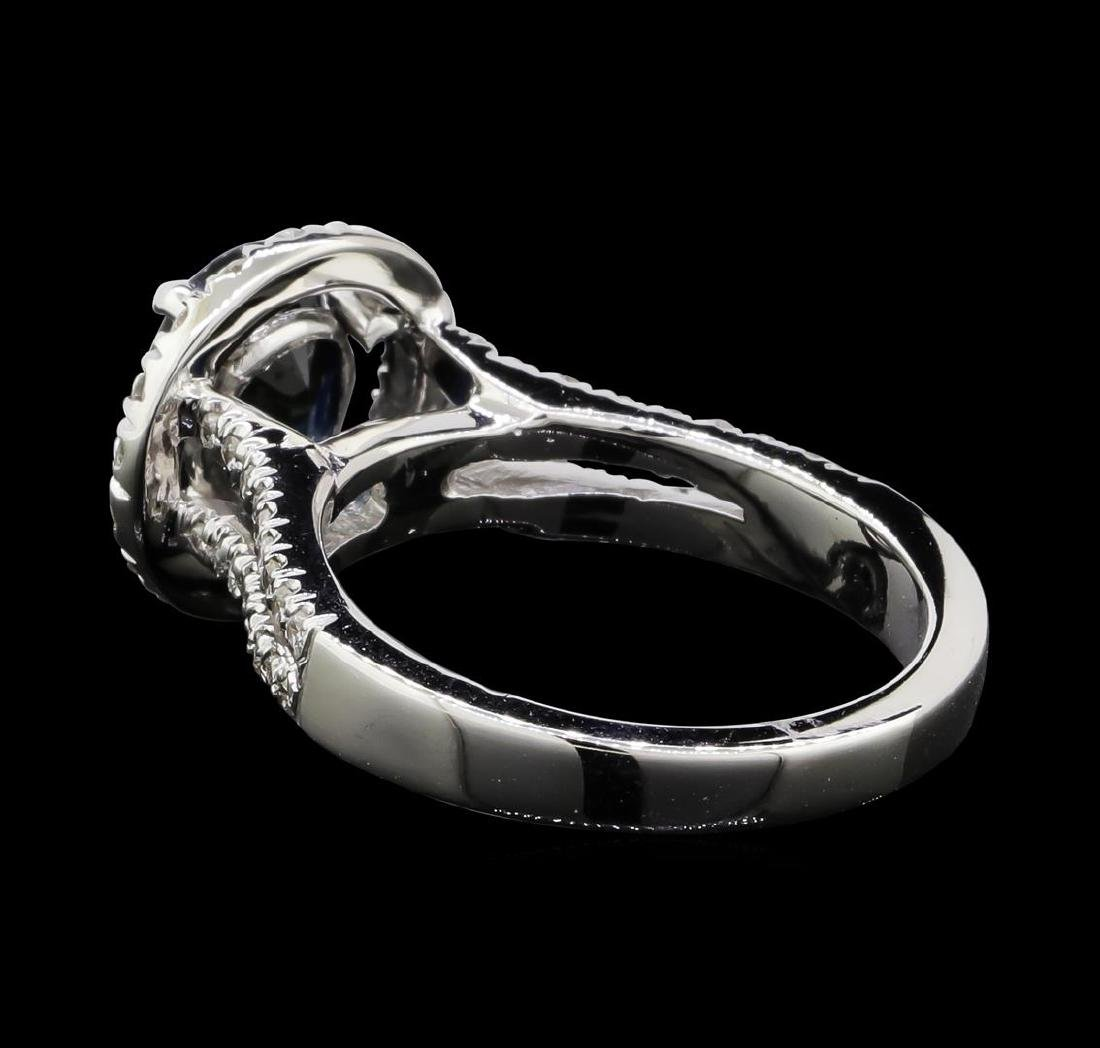1.61 ctw Sapphire and Diamond Ring - 14KT White Gold - 4
