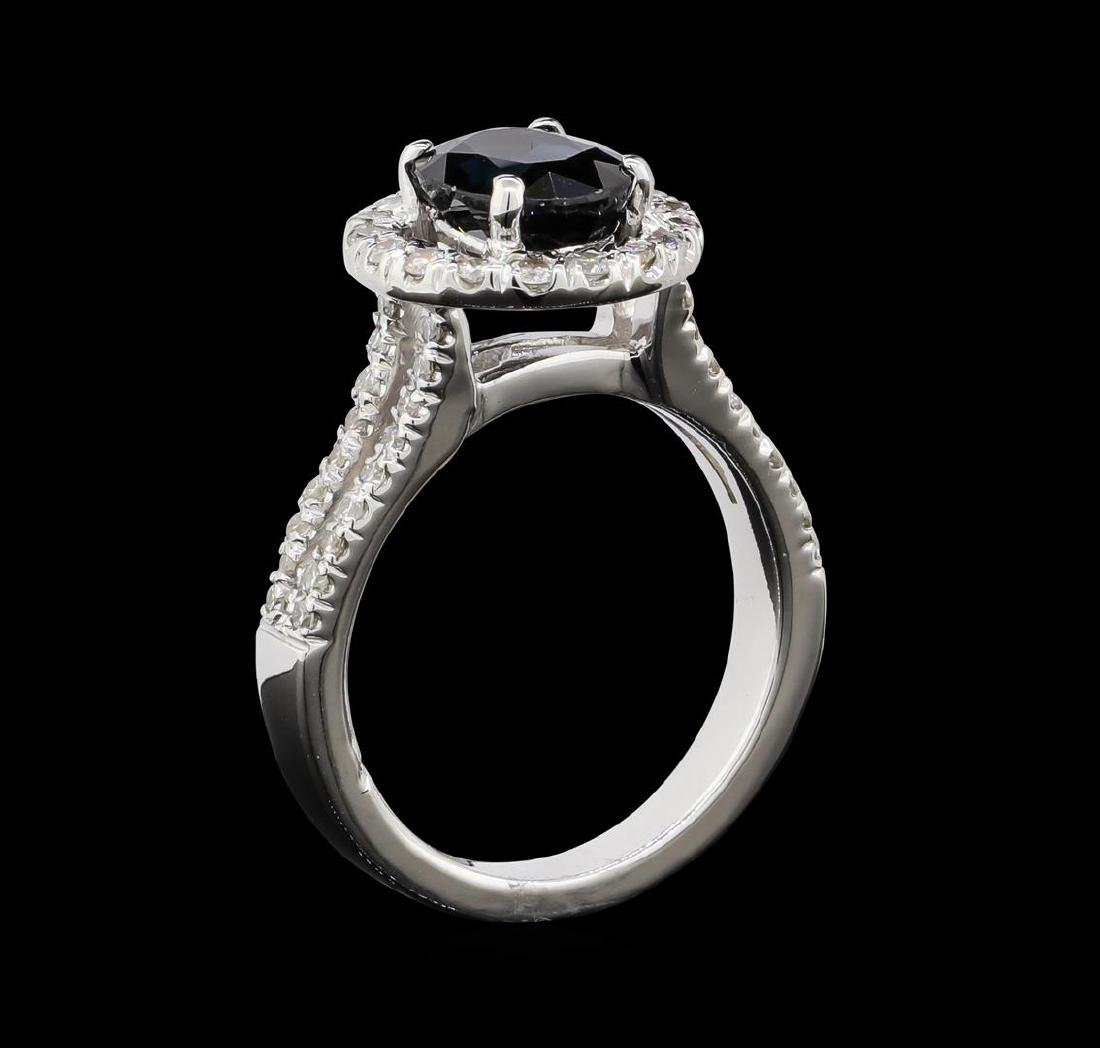 1.61 ctw Sapphire and Diamond Ring - 14KT White Gold - 5