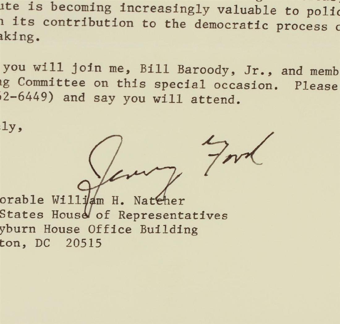 Gerald R. Ford Signed Letter Display PSA Certified - 3