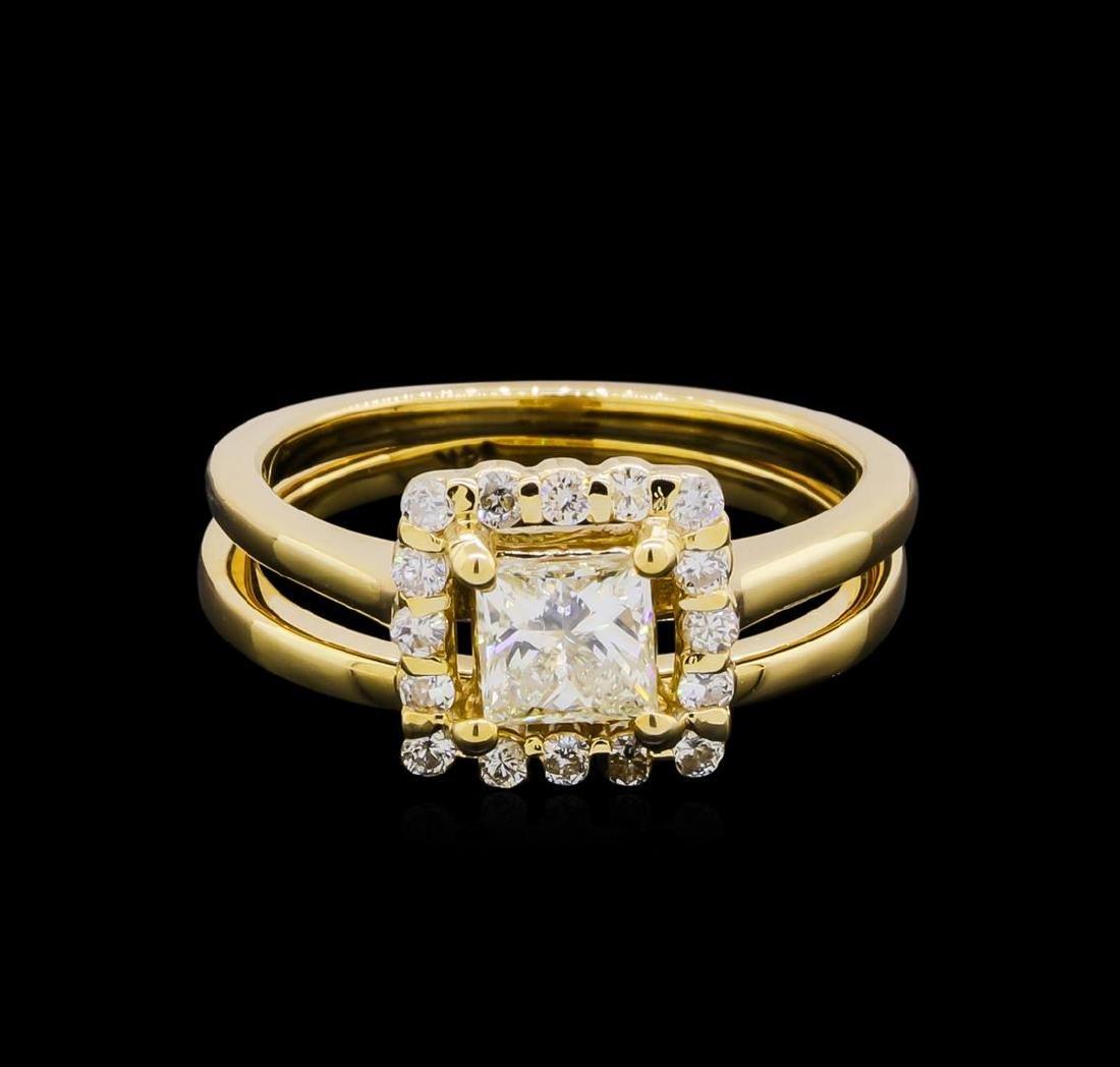 14KT Yellow Gold 0.91 ctw Diamond Wedding Set - 2