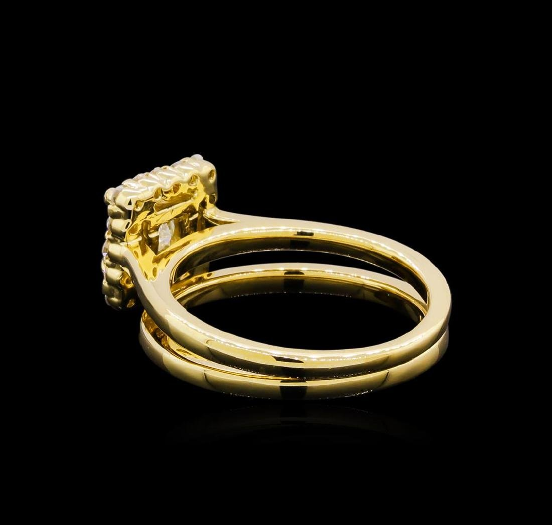 14KT Yellow Gold 0.91 ctw Diamond Wedding Set - 3