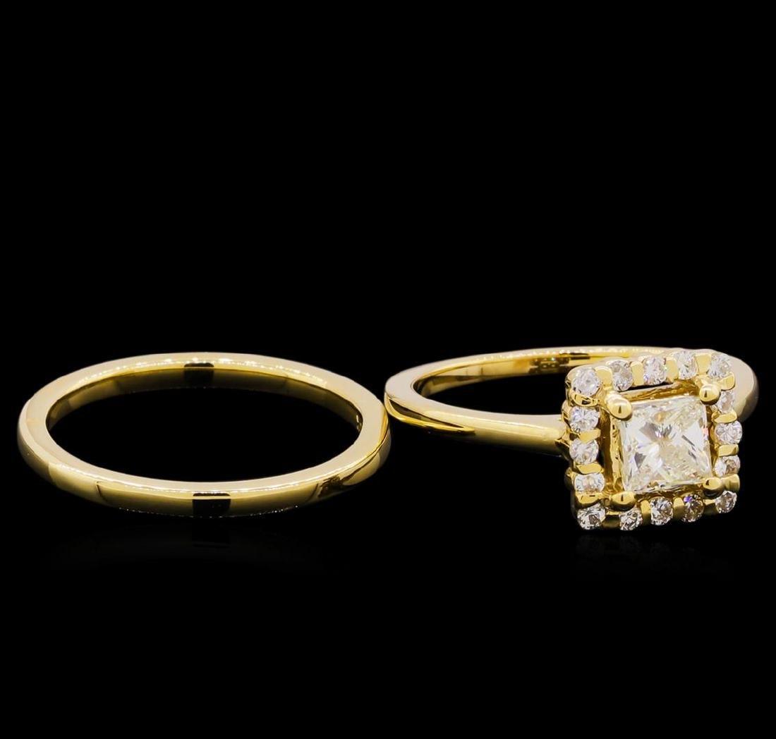 14KT Yellow Gold 0.91 ctw Diamond Wedding Set - 4