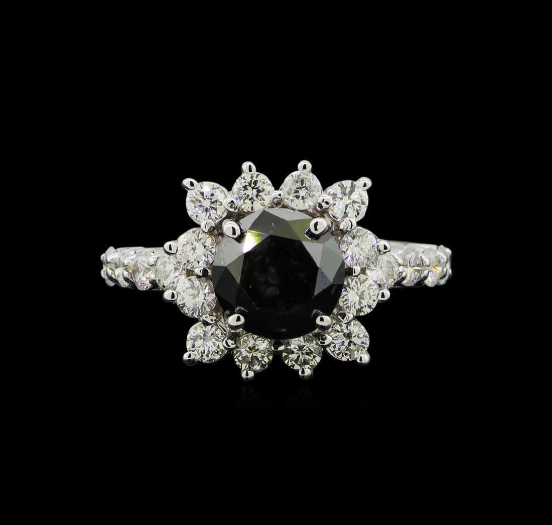 4.75 ctw Black Diamond Ring - 14KT White Gold - 2