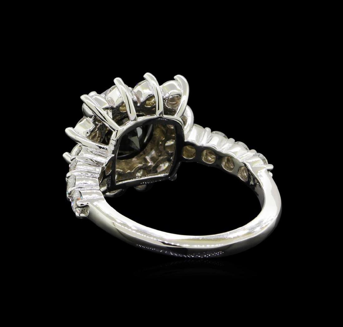 4.75 ctw Black Diamond Ring - 14KT White Gold - 3