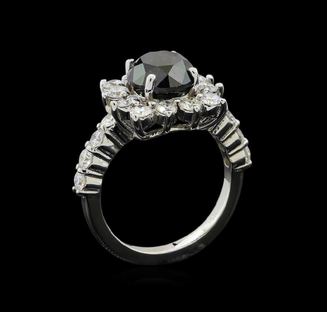 4.75 ctw Black Diamond Ring - 14KT White Gold - 4