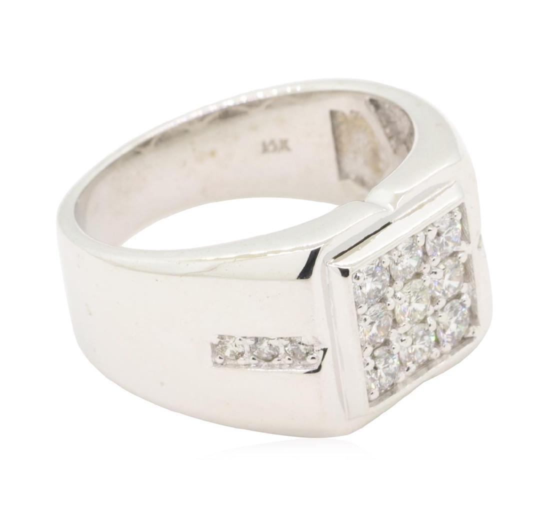 0.6 ctw Diamond Ring - 14KT White Gold - 2