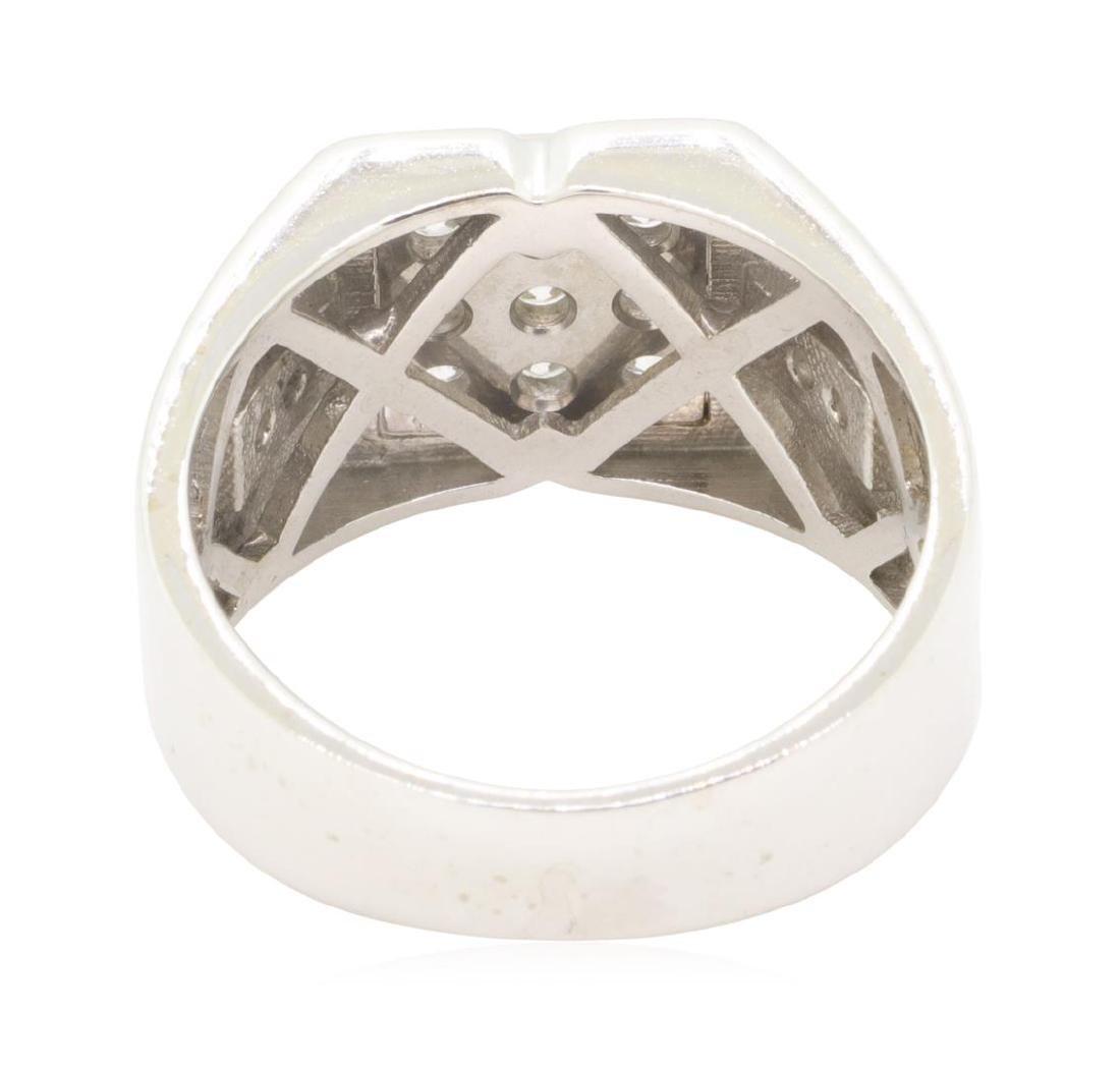 0.6 ctw Diamond Ring - 14KT White Gold - 3