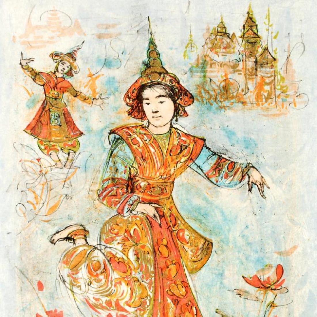 Thai Dancers by Hibel (1917-2014) - 2