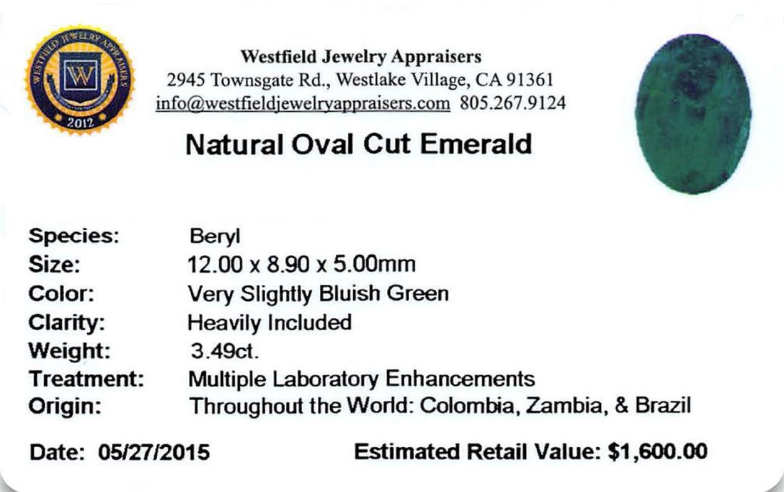 3.49 ctw Oval Mixed Emerald Parcel - 2