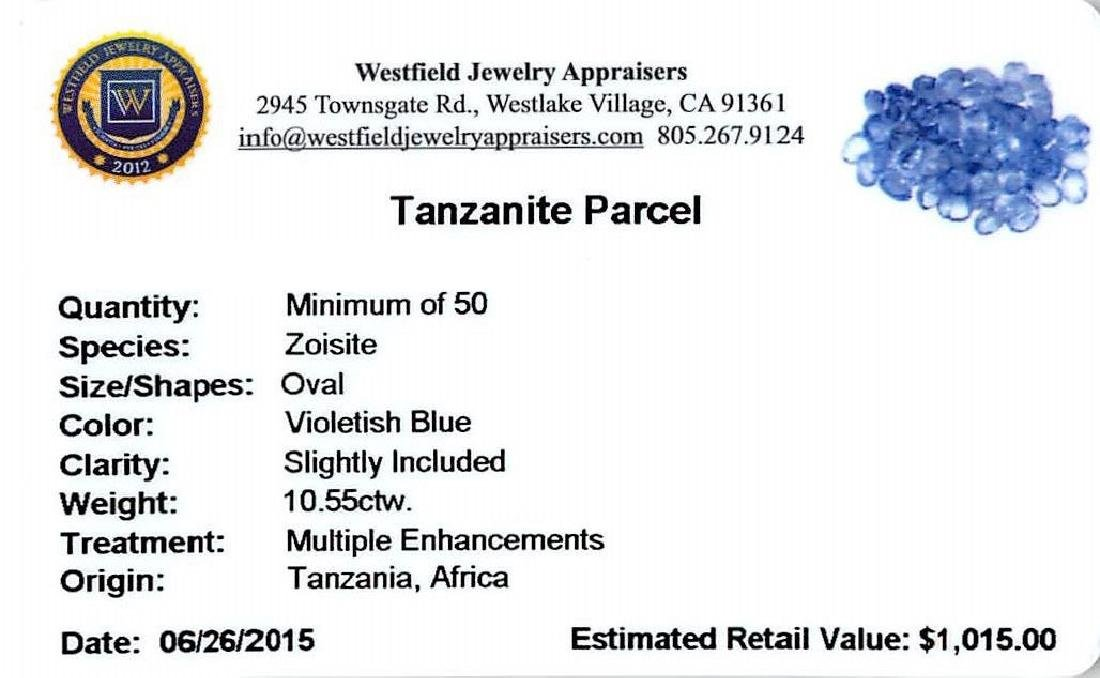 10.55 ctw Oval Mixed Tanzanite Parcel - 2