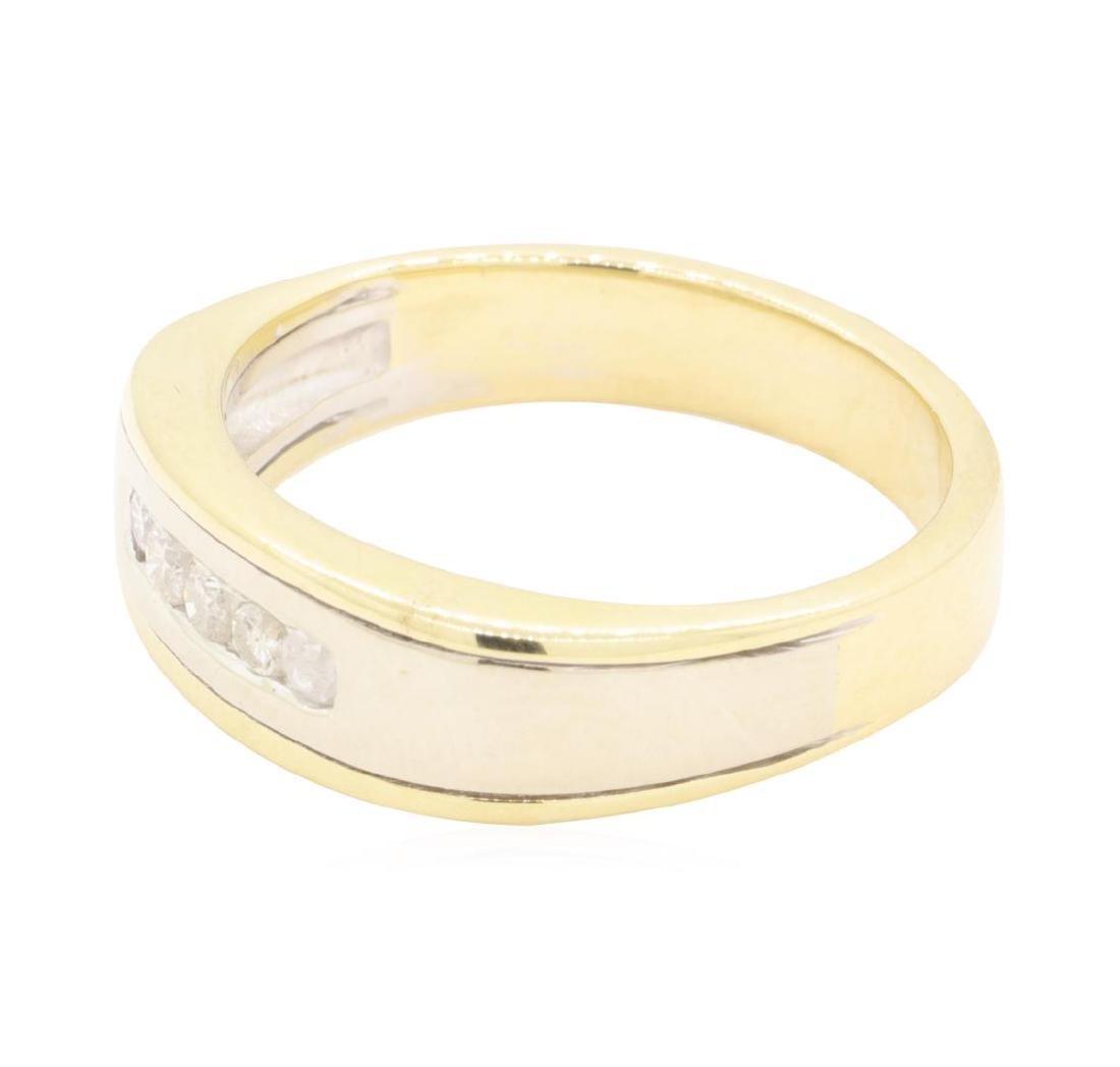 0.25 ctw Diamond Ring - 14KT Yellow Gold - 2