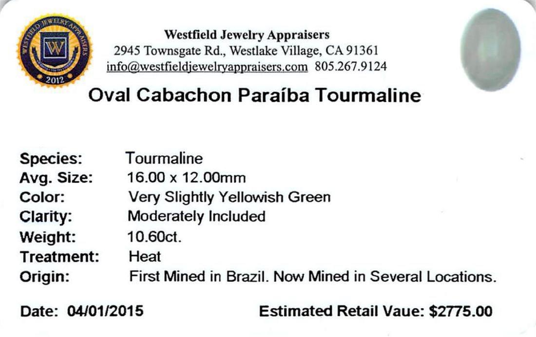 10.6 ctw Cabochon Paraiba Tourmaline Parcel - 2