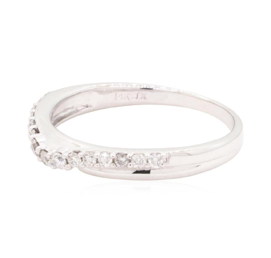 0.3 ctw Diamond Ring - 14KT White Gold - 2