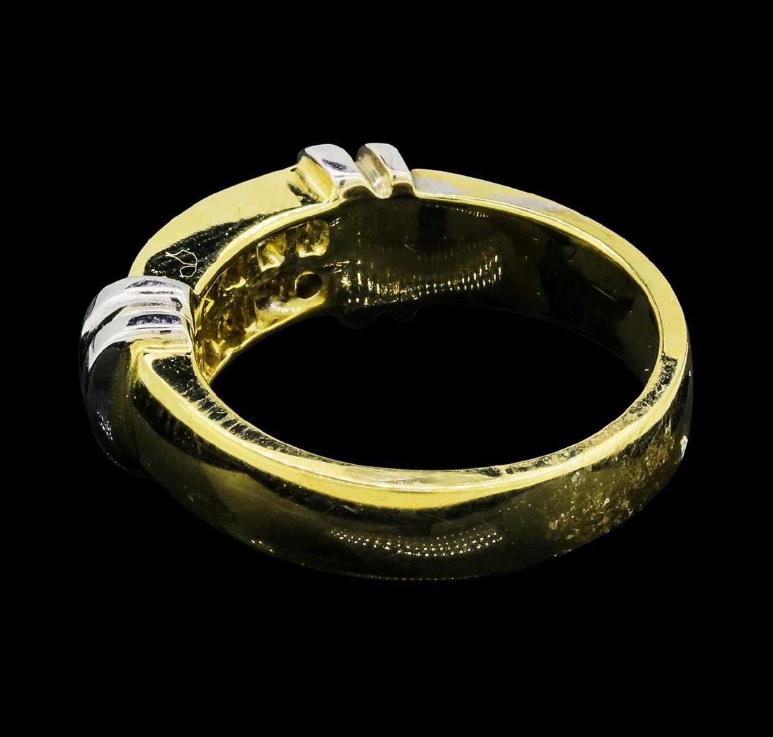 0.37 ctw Diamond Ring - 14KT Yellow and White Gold - 3