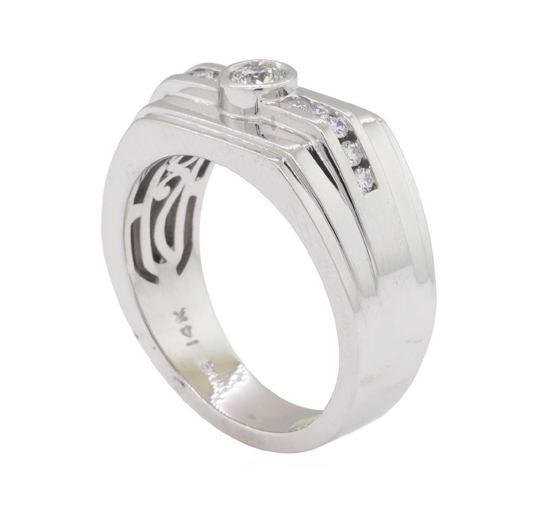 0.48 ctw Diamond Ring - 14KT White Gold - 4