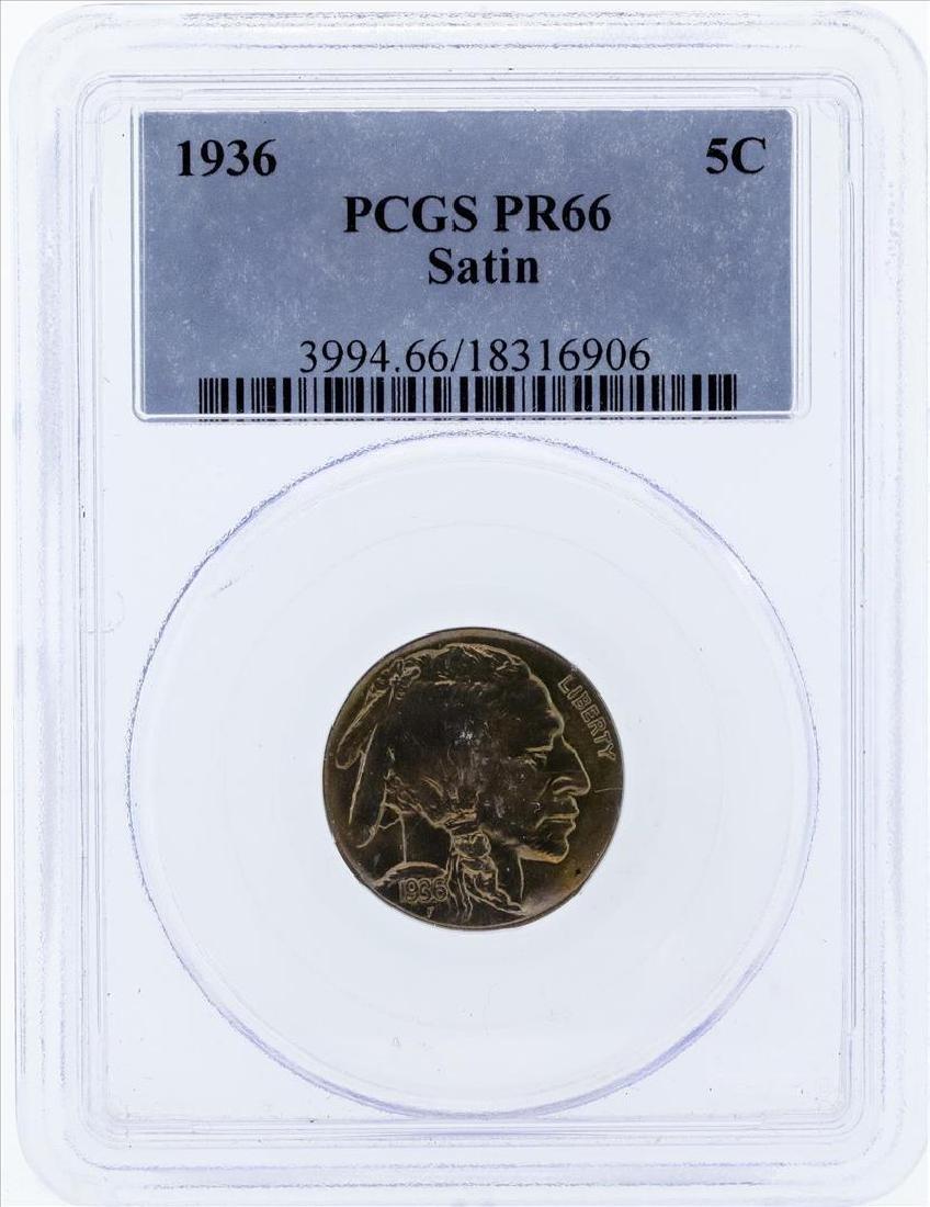 1936 Buffalo Proof Nickel PCGS PR66 Satin