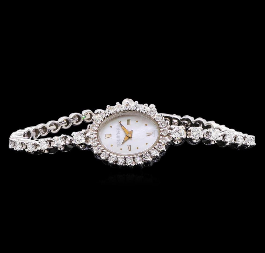 Tourneau 14KT White Gold Diamond Ladies Watch