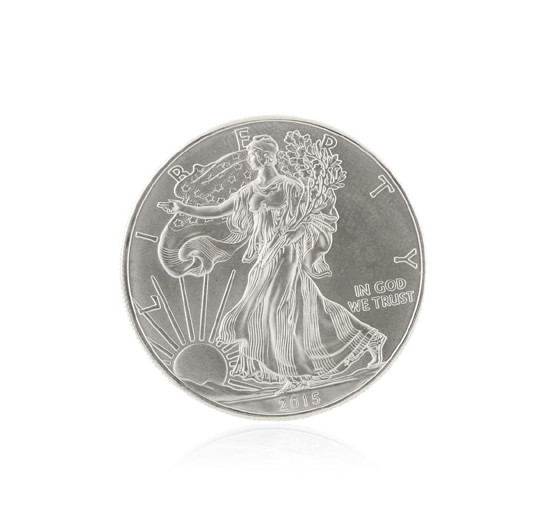 2015 American Silver Eagle Dollar BU Coin