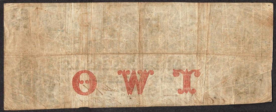 1857 $2 The Waubeek Bank Obsolete Note - 2
