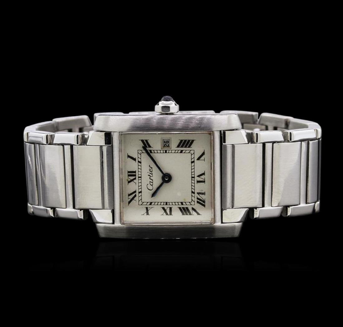 Cartier Stainless Steel Tank Francaise Watch - 2
