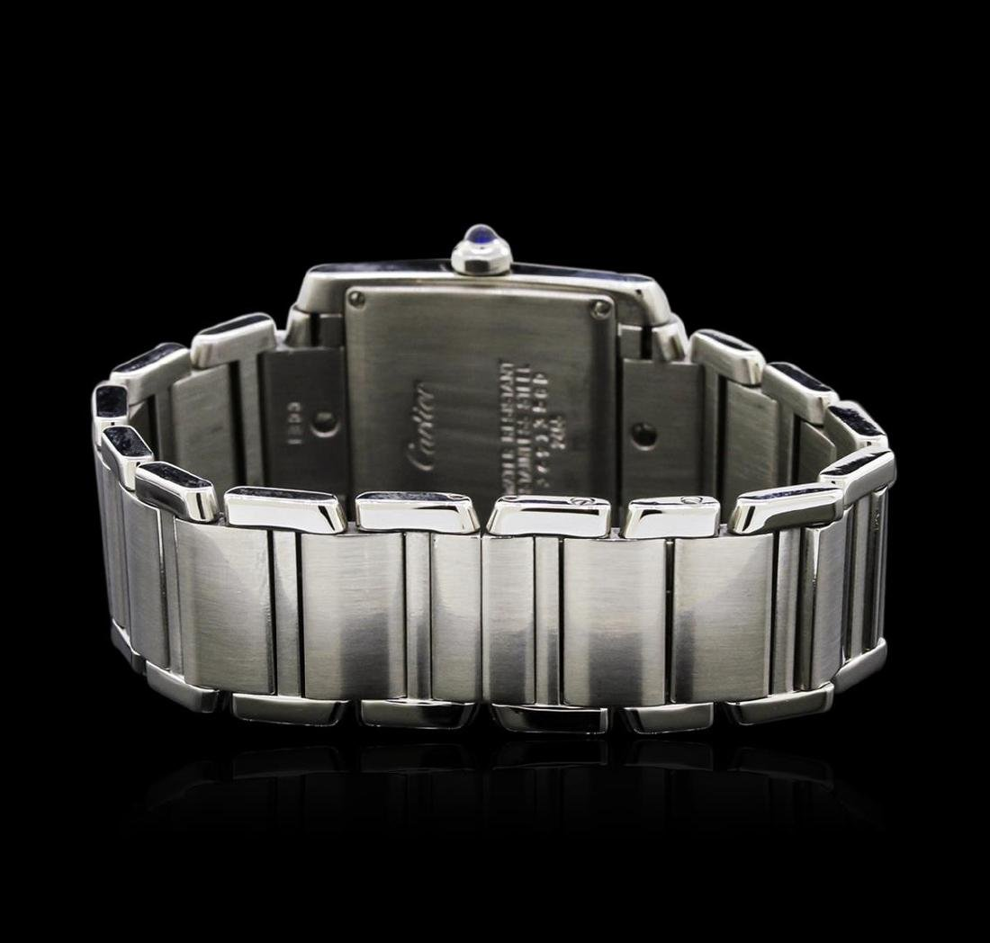 Cartier Stainless Steel Tank Francaise Watch - 3