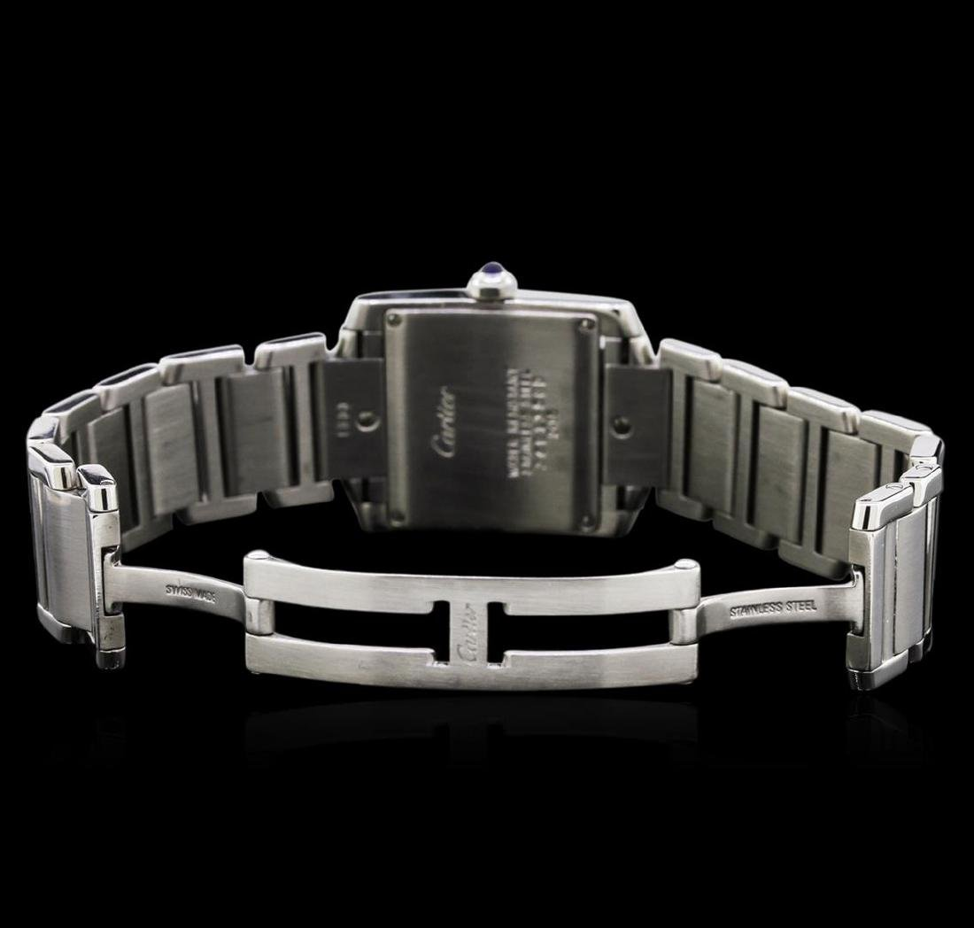Cartier Stainless Steel Tank Francaise Watch - 4