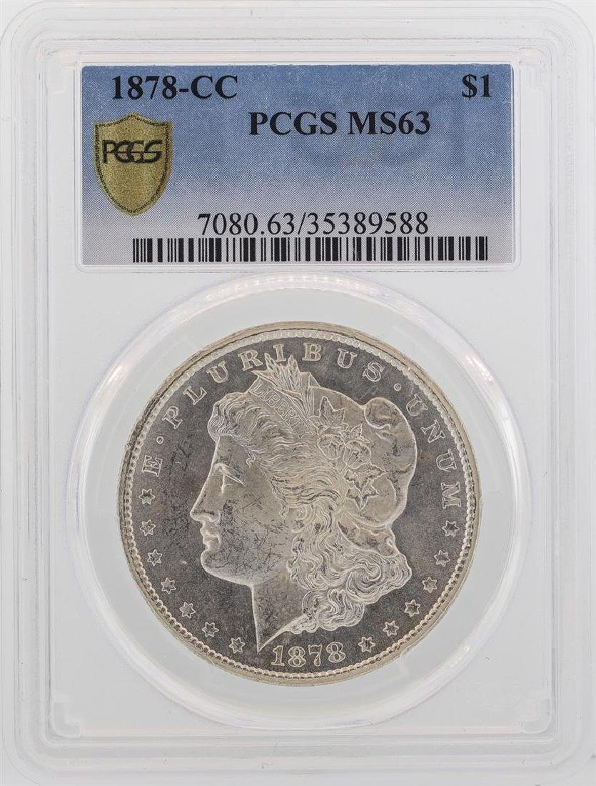 1878-CC $1 Morgan Silver Dollar Coin PCGS MS63 - 2