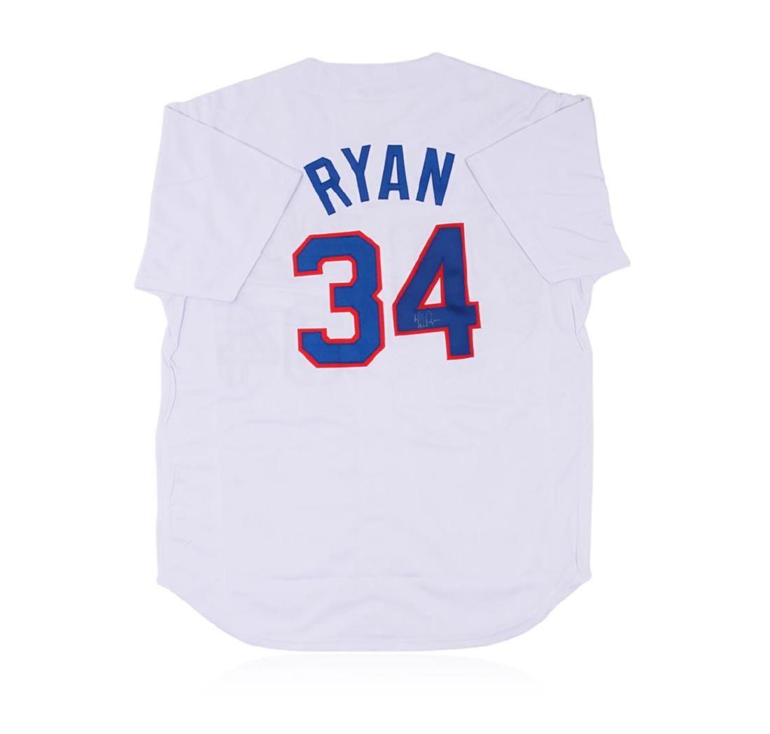 Texas Rangers Nolan Ryan Autographed Jersey