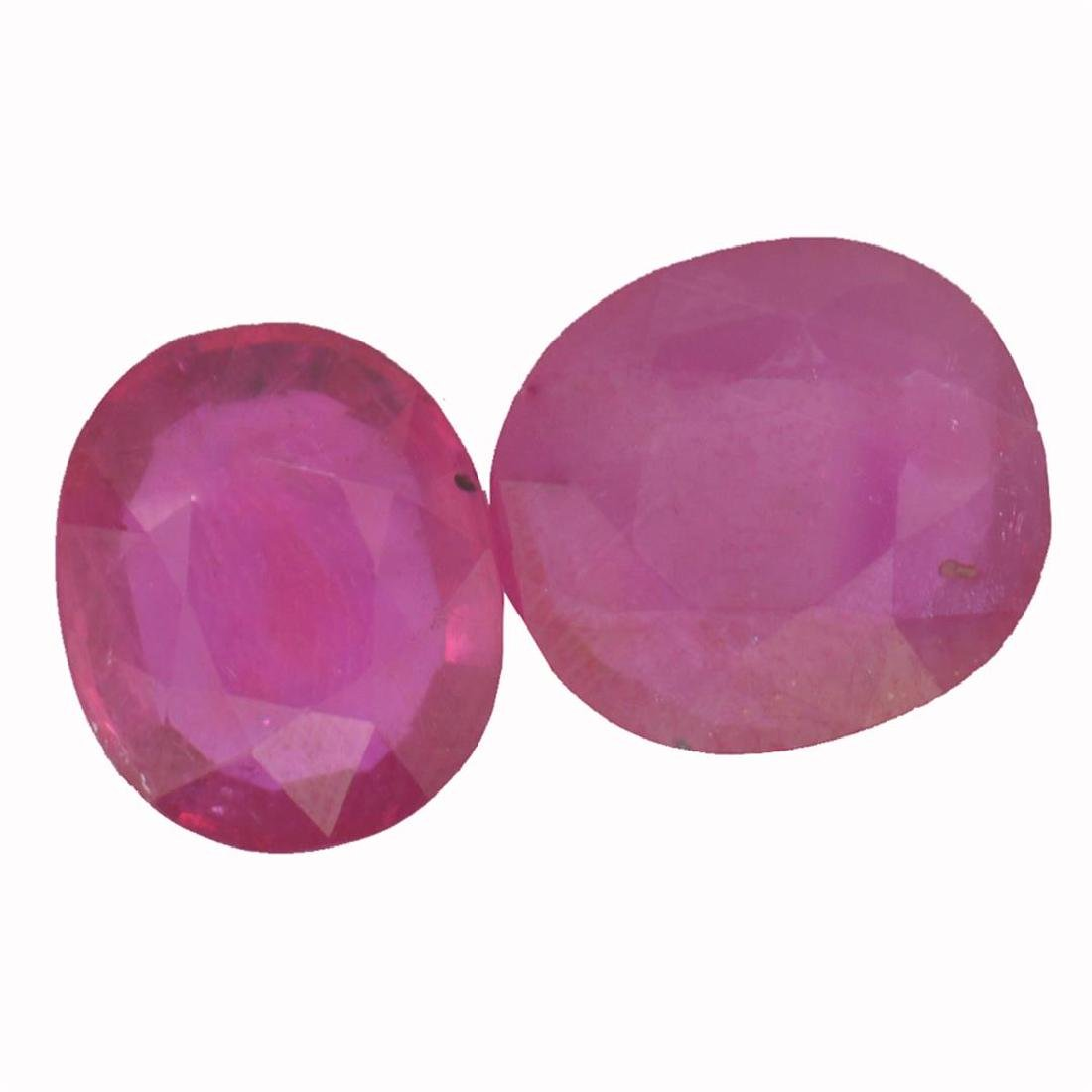 11.59 ctw Oval Mixed Ruby Parcel