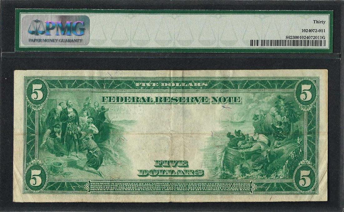 1914 $5 Federal Reserve Note Richmond Fr.862 PMG Very - 2
