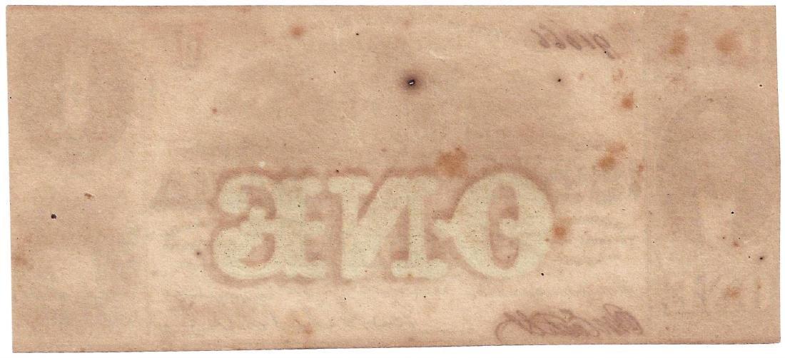 1863 $1 Alabama Confederate Note - 2