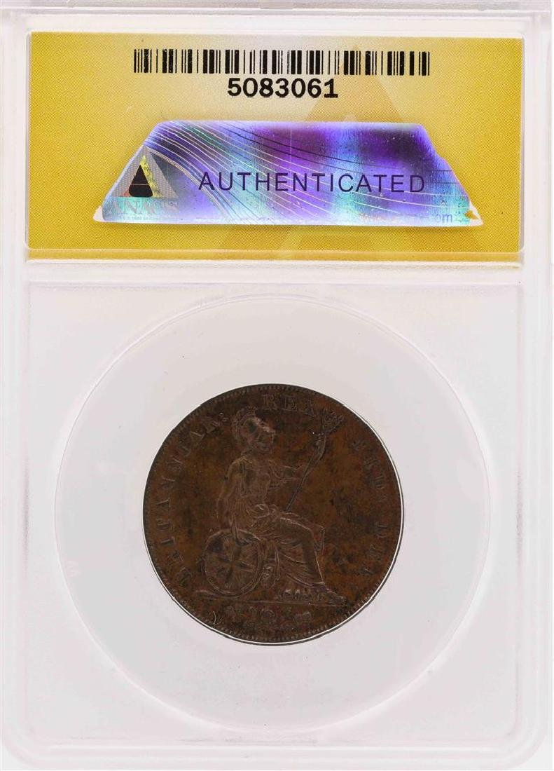 1826 Great Britain Geroge IV 1/2 Penny Coin ANACS AU50 - 2